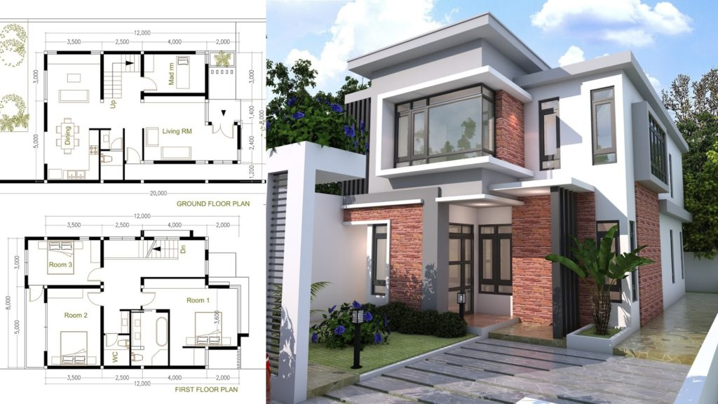House Plans 10x10m with 10 Bedrooms - SamHousePlans