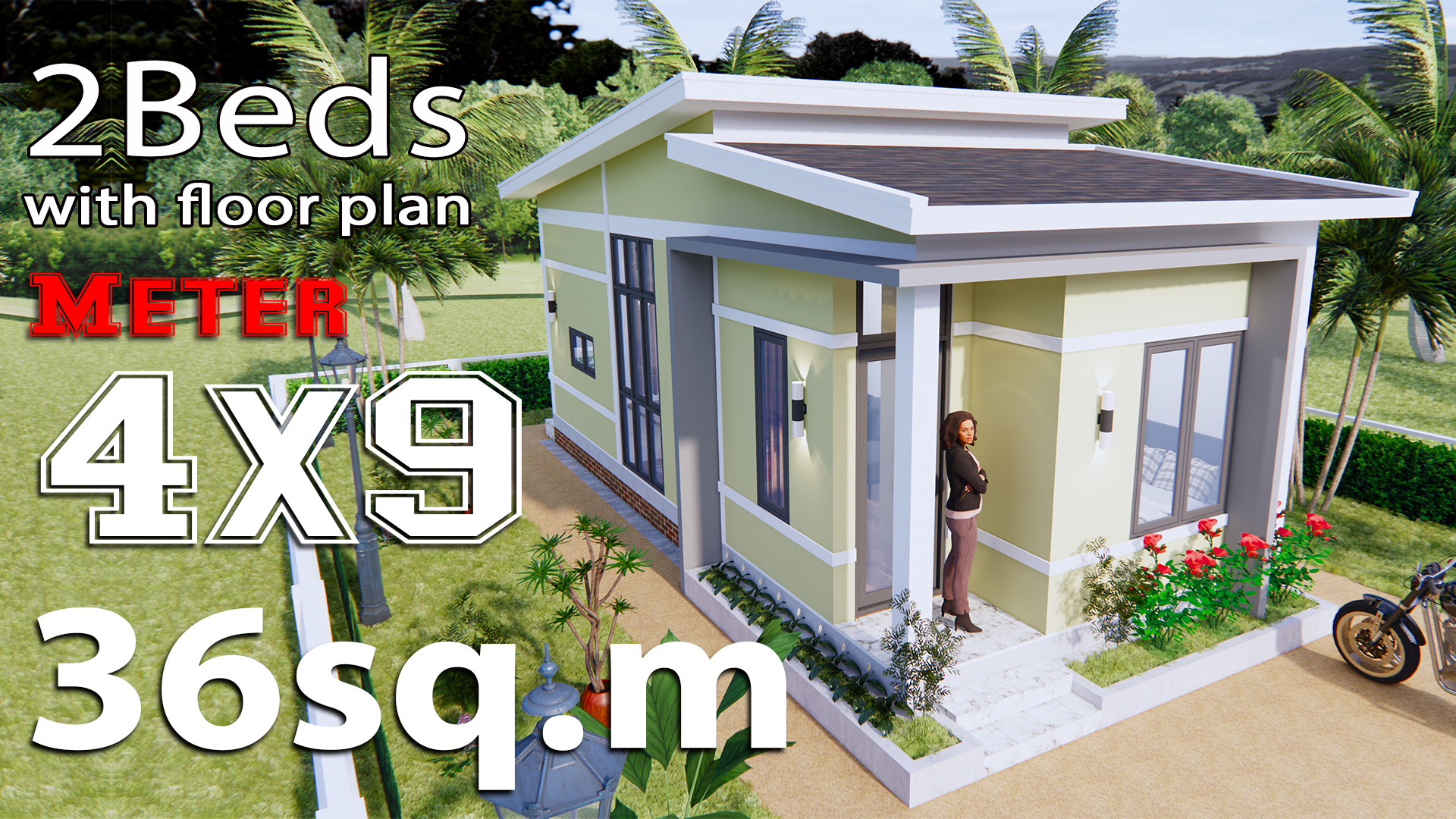 Small House Design Idea 4x9 Meters 36sq M Samhouseplans