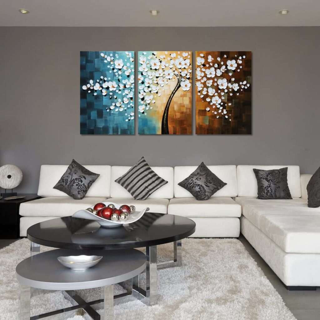 Oil Painting Modern Floral Canvas
