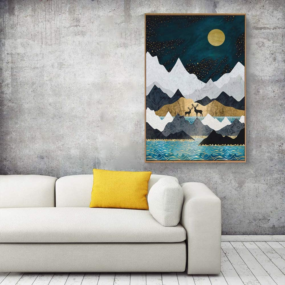 Nordic Style Abstract Color Canvas