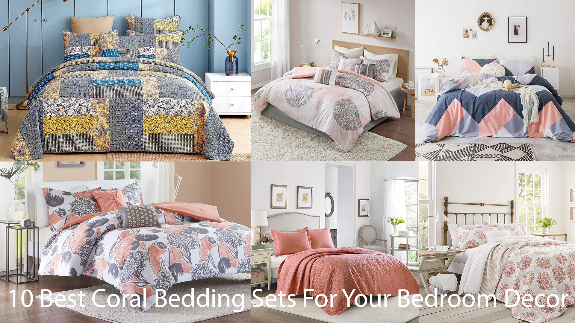 10 Best Coral Bedding Sets For Your Bedroom Decor
